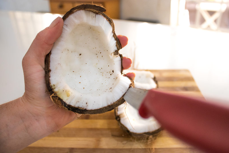 Homemade Coconut Milk made with real coconut