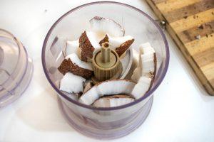 Making Coconut Milk in a blender