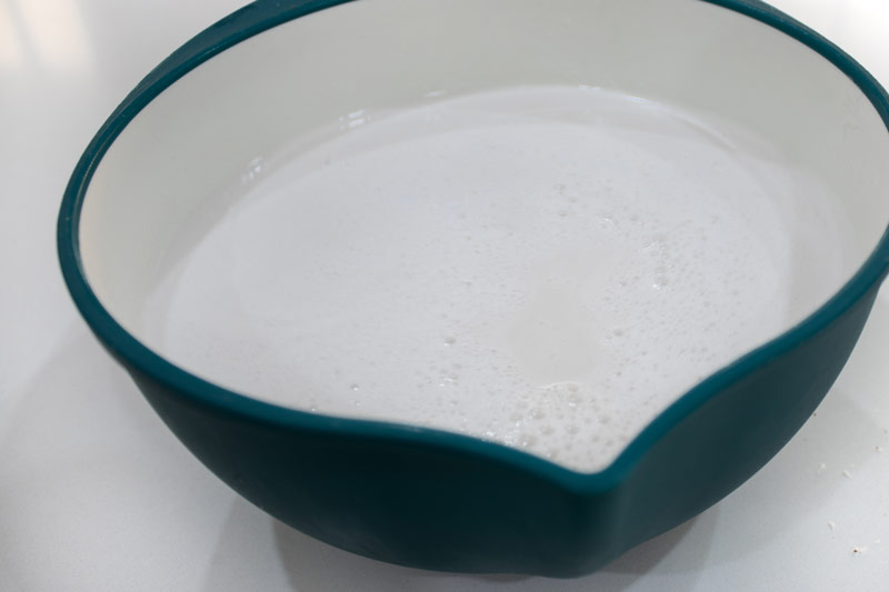 coconut milk being made