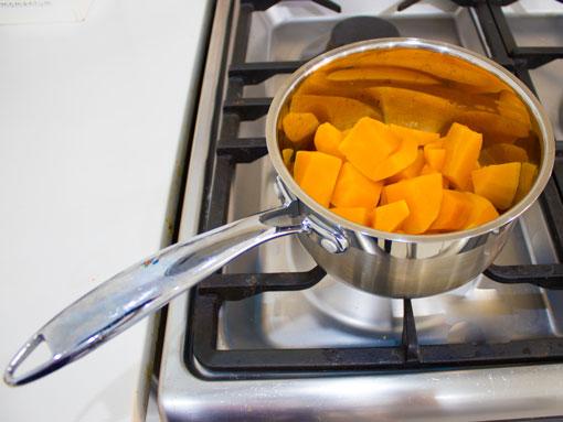 Butternut Blocks on the stove