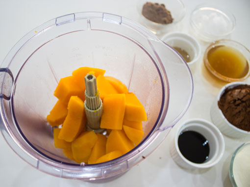 Butternut Blocks in a blender