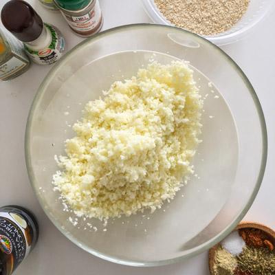 Cauliflower bread stick recipe ingredients